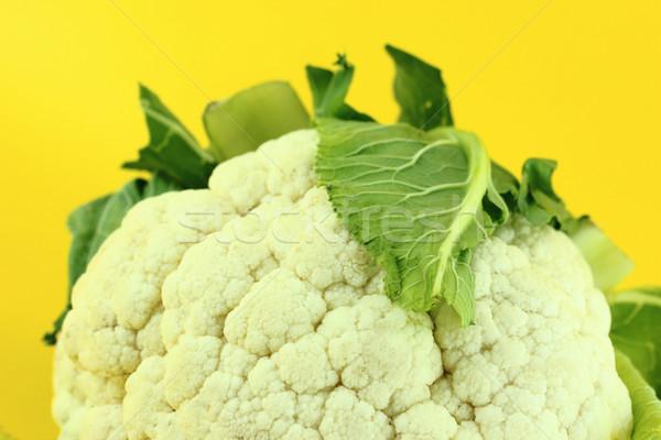 Friss karfiol izolált citromsárga természet levél Stock fotó © designsstock