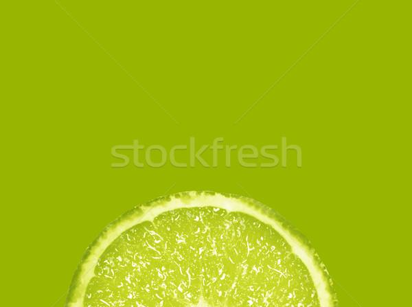 Szelet friss citrus zöld étel háttér Stock fotó © designsstock