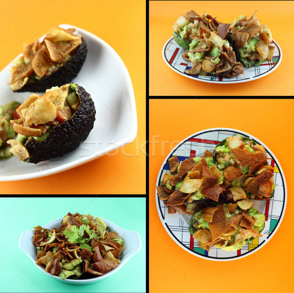 Saudável alimentos orgânicos abacate salada recheado Foto stock © designsstock