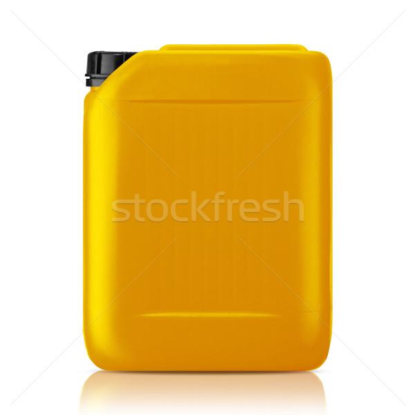 Plástico galão amarelo lata isolado branco Foto stock © designsstock