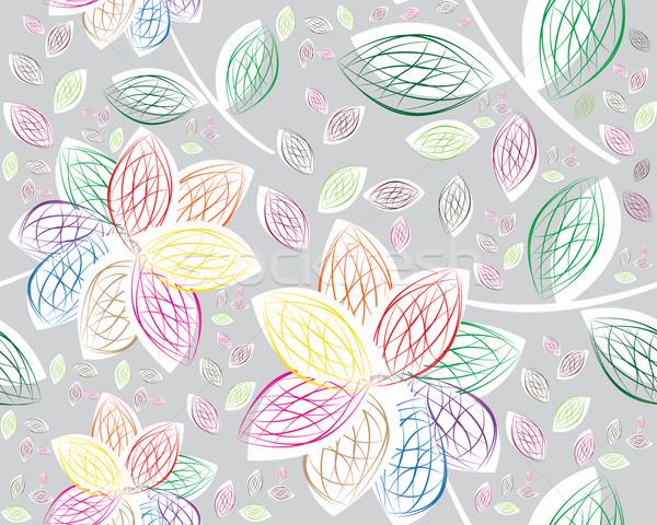 Retro floral sem costura moderno moda Foto stock © designsstock