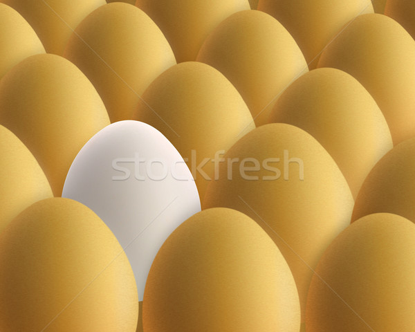 unique white egg Stock photo © designsstock