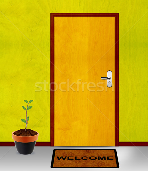 closed door with coming soon mesage Stock photo © designsstock