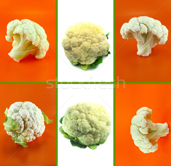 Saludable alimentos orgánicos establecer frescos coliflor naturaleza Foto stock © designsstock