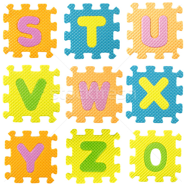 Alphabet puzzle lettres blanche Photo stock © designsstock