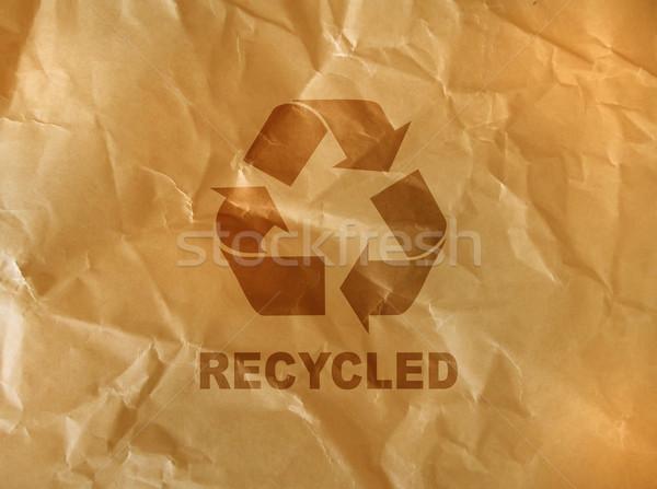 Marrón papel reciclar signo oficina diseno Foto stock © designsstock