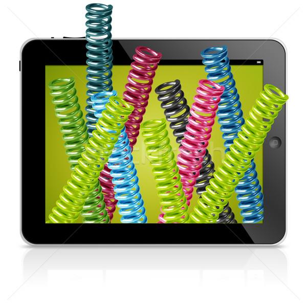 3D samendrukking spel geïsoleerd zwarte Stockfoto © designsstock