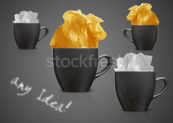 Crumpled papers and coffee Stock photo © designsstock