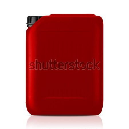 Plastik galon kırmızı can yalıtılmış beyaz Stok fotoğraf © designsstock