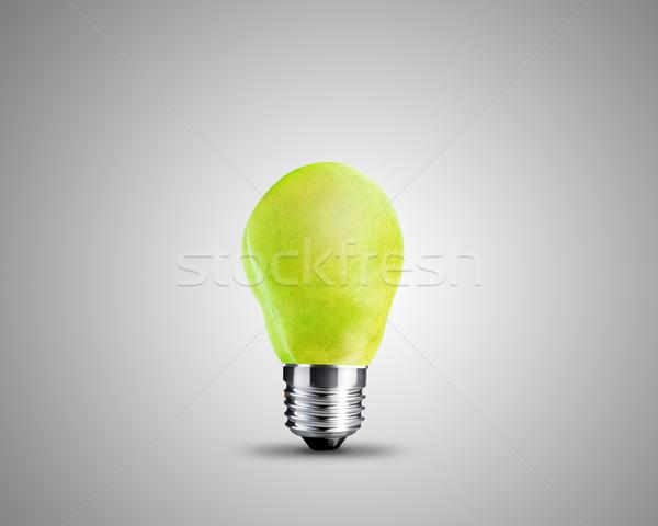 żarówka zielone gruszka obraz świetle projektu Zdjęcia stock © designsstock