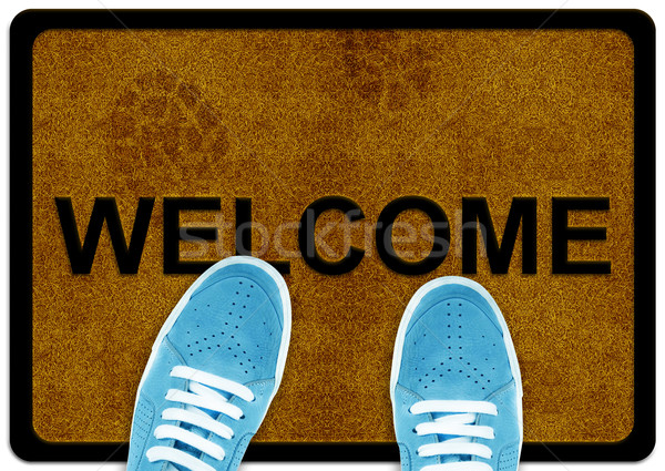 welcome cleaning foot carpet  Stock photo © designsstock