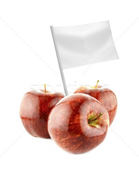 Sağlıklı organik gıda taze kırmızı elma bayrak Stok fotoğraf © designsstock