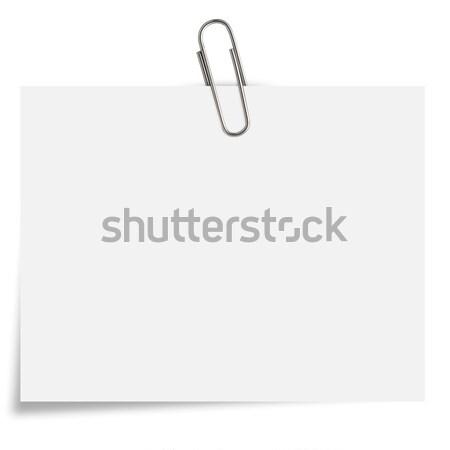 Briefpapier weiß Büroklammer Büro Hintergrund Notebook Stock foto © designsstock
