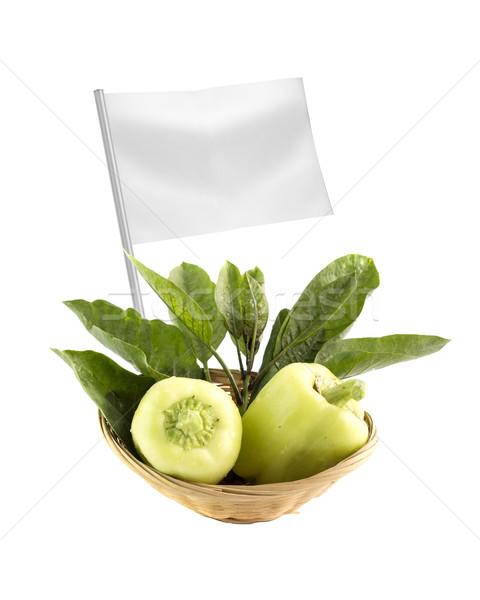 Sağlıklı organik gıda taze yeşil biber bayrak Stok fotoğraf © designsstock