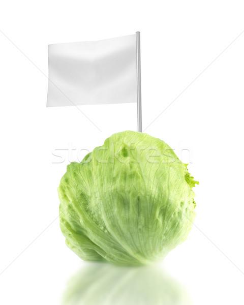Egészséges bioélelmiszer friss zöld jéghegy saláta Stock fotó © designsstock
