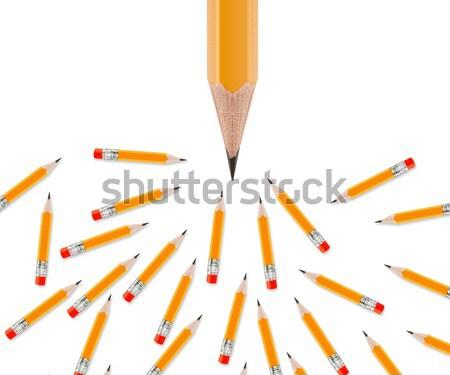 Ayarlamak kalemler beyaz ofis okul çalışmak Stok fotoğraf © designsstock