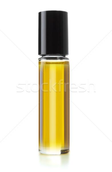 Parfüm şişe beyaz çalışmak yol arka plan Stok fotoğraf © designsstock