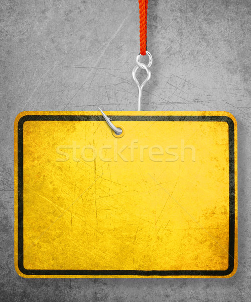 Stock photo: Yellow Sign
