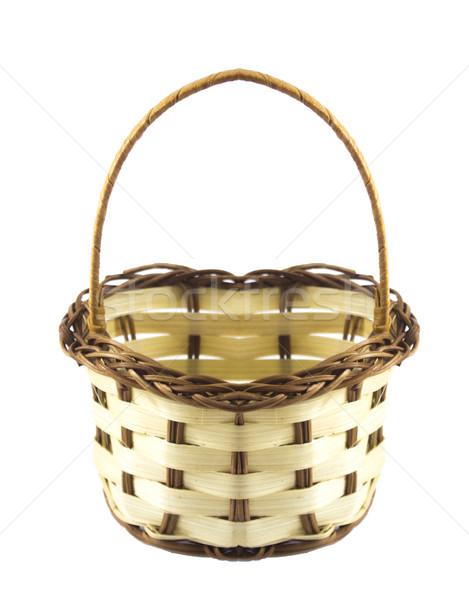 Vazio cesta pequeno isolado branco Foto stock © designsstock