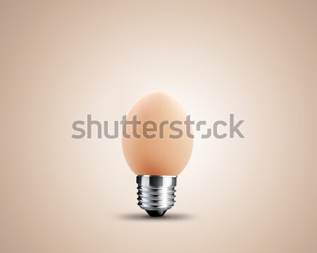 żarówka jaj obraz świetle projektu technologii Zdjęcia stock © designsstock