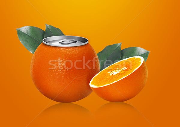 Orange can and half orange Stock photo © designsstock