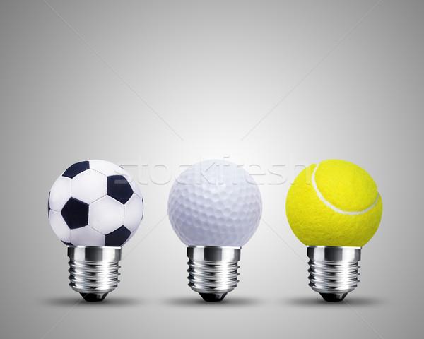 Ampoule sport image lumière design Photo stock © designsstock