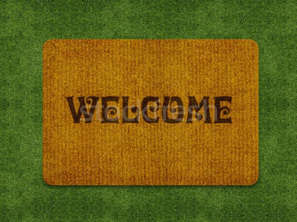 welcome doormat Stock photo © designsstock