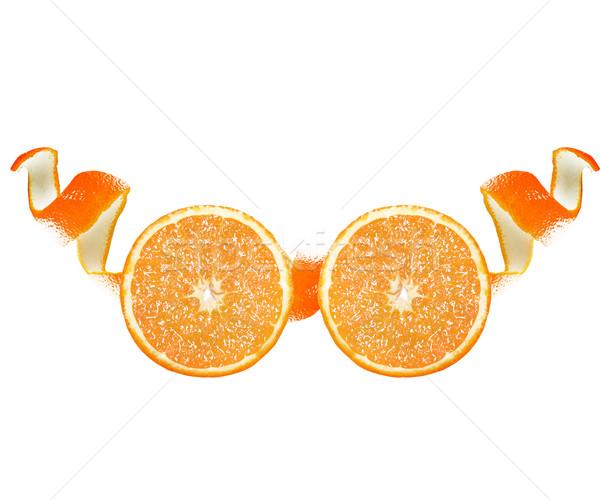 Oranje schil plakje bril geïsoleerd Stockfoto © designsstock