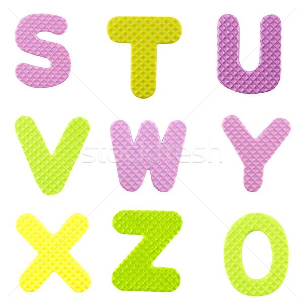 письма алфавит изолированный белый школы Сток-фото © designsstock
