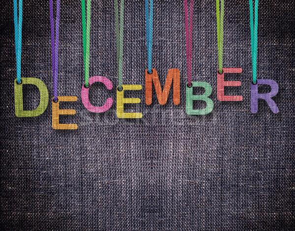 Cartas enforcamento dezembro azul textura abstrato Foto stock © designsstock