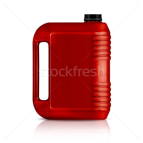 Plastique gallon rouge peuvent isolé blanche Photo stock © designsstock