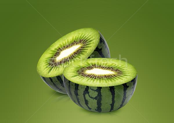 Water melon and kiwi inside Stock photo © designsstock