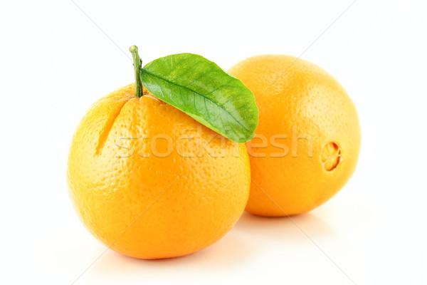 オレンジ果実 甘い 葉 食品 葉 フルーツ ストックフォト © designsstock