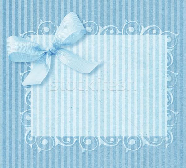 Bebek erkek varış kart bo dizayn Stok fotoğraf © designsstock