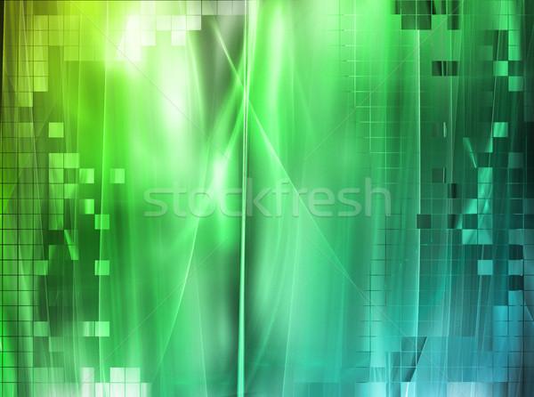 Creatieve elegante ontwerp schoonheid golf kleur Stockfoto © Designus