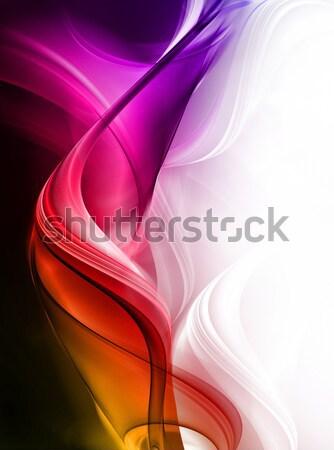 Elegante projeto criador luz arte onda Foto stock © Designus