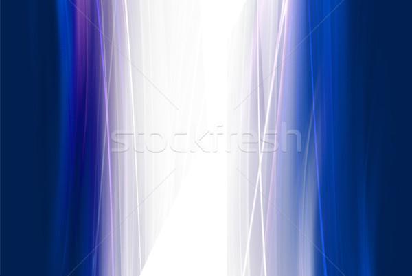 Foto d'archivio: Elegante · design · abstract · blu · energia · colore