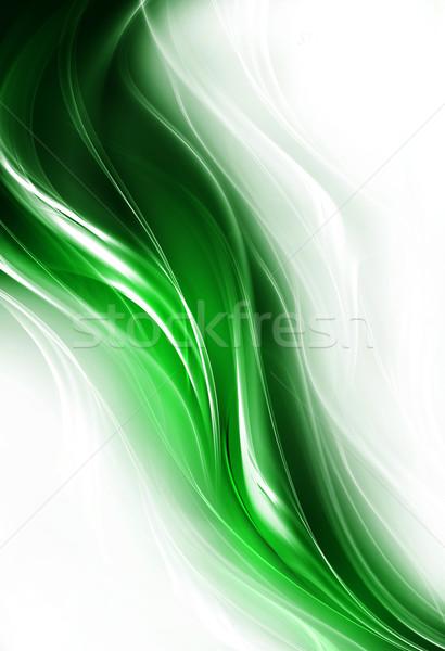Elegante ontwerp creatieve licht kunst golf Stockfoto © Designus