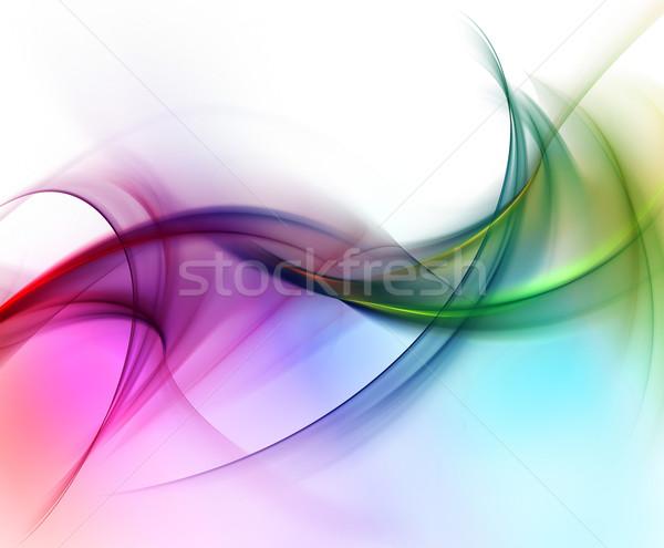 Creative элегантный дизайна красоту волна цвета Сток-фото © Designus