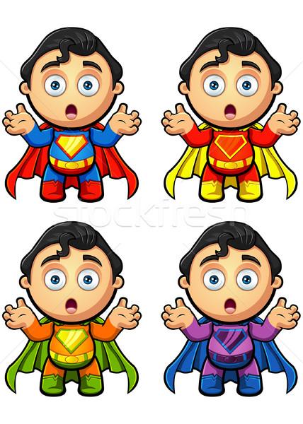 Süper adam karakter bakıyor farklı Stok fotoğraf © DesignWolf