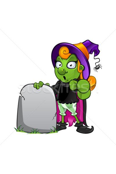 Rajz boszorkány karakter illusztráció ünnep mágikus Stock fotó © DesignWolf