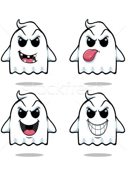 непослушный Ghost набор иллюстрация Cute глядя Сток-фото © DesignWolf