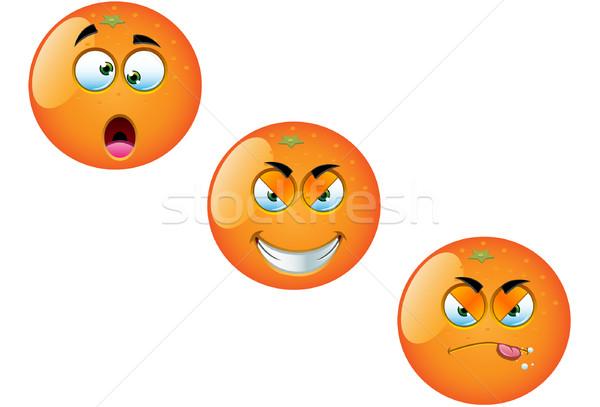 Cartoon fruits orange amusement vecteur illustrations Photo stock © DesignWolf