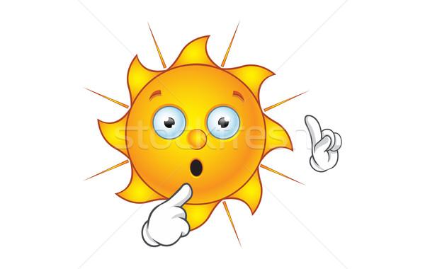Nap karakter adatbázis rajz illusztráció forró Stock fotó © DesignWolf
