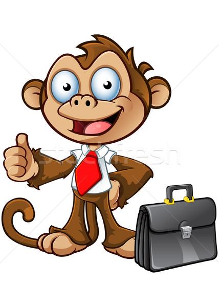 üzlet majom karakter remek rajz aktatáska Stock fotó © DesignWolf