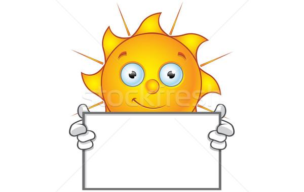 Soleil personnage heureux bord cartoon Photo stock © DesignWolf