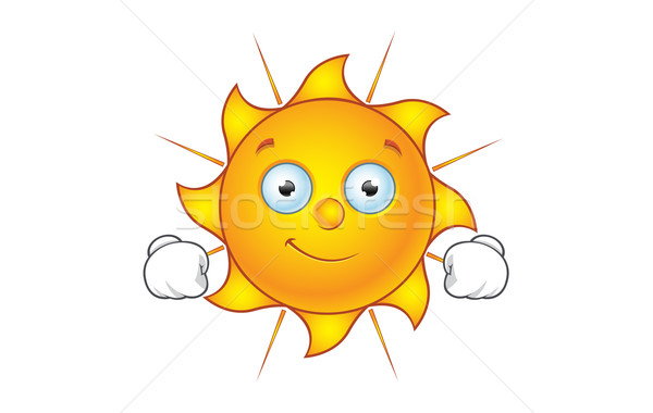 Soleil personnage heureux cartoon illustration chaud Photo stock © DesignWolf