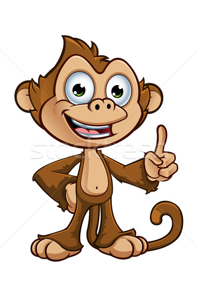 Cheeky Monkey character Stock photo © DesignWolf
