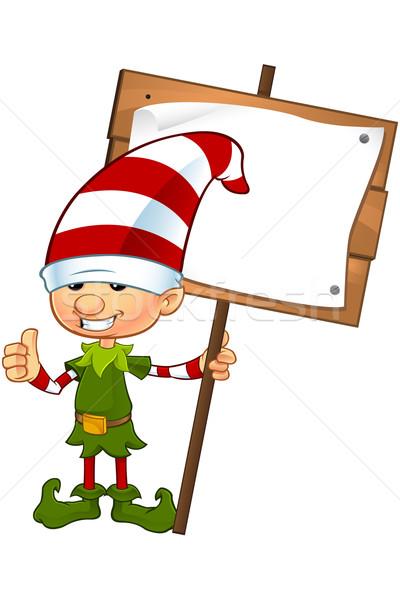 Sevimli cin karakter karikatür örnek Noel Stok fotoğraf © DesignWolf