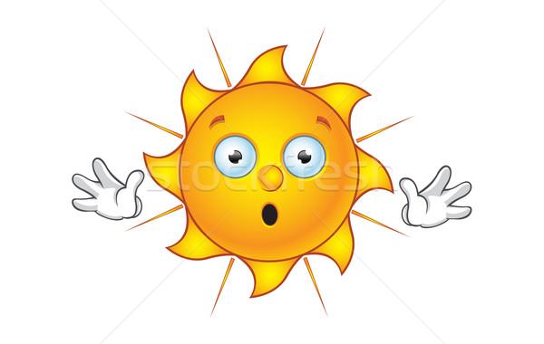 Nap karakter közmondás stop rajz illusztráció Stock fotó © DesignWolf